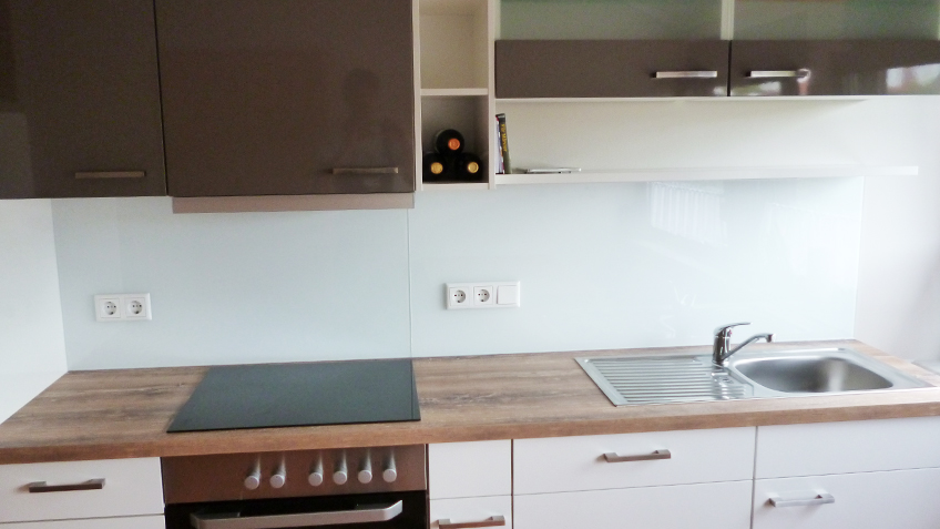 Lackiertes Glas Küchenrückwand