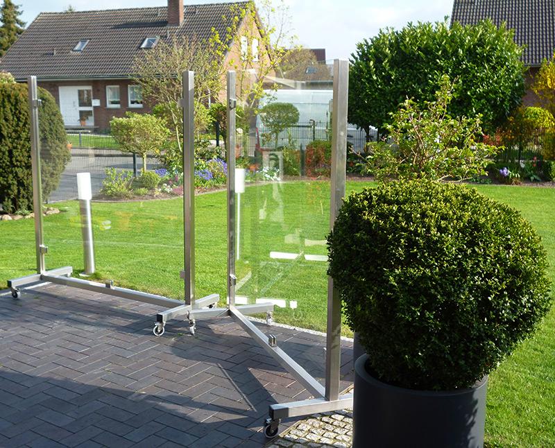 Mobiler Windschutz Terrasse ~ Mobile windschutzwände